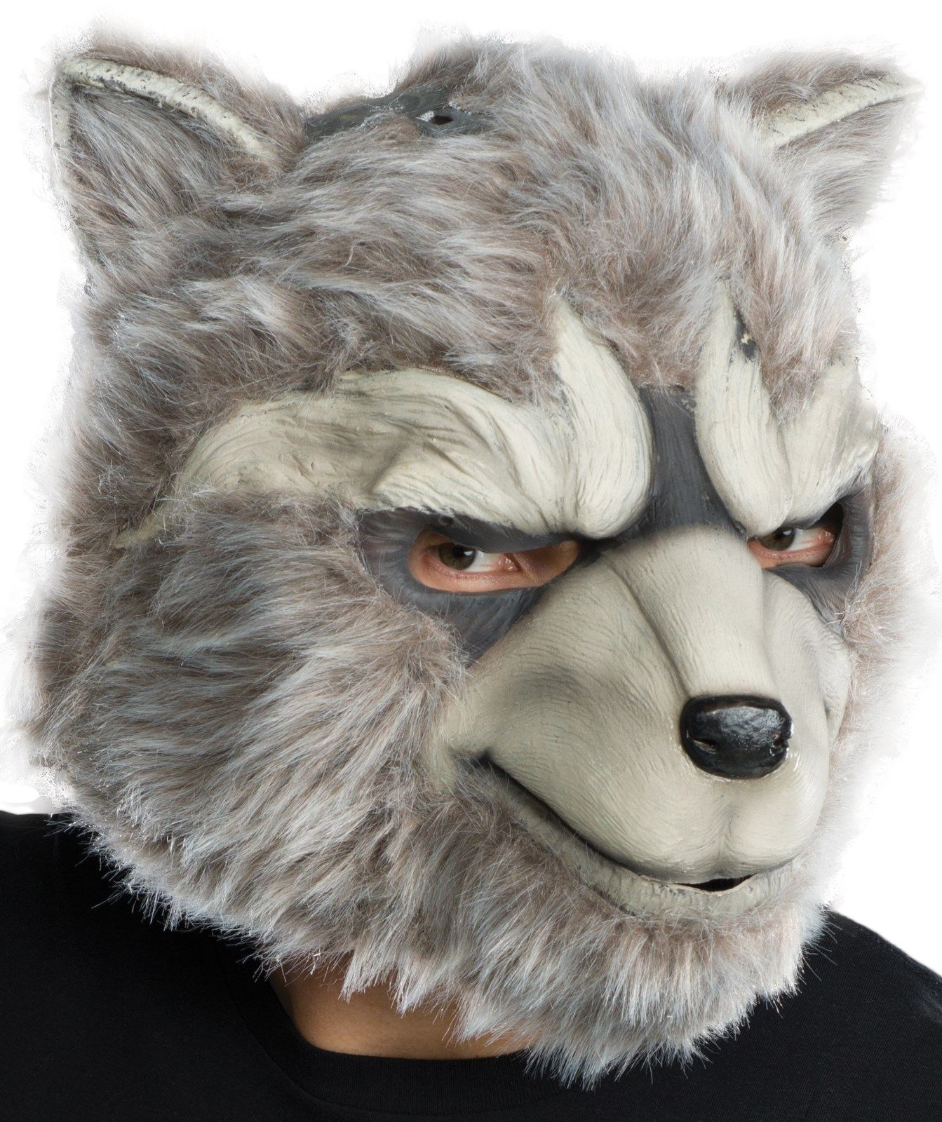 Guardians of the Galaxy: Adult Full Overhead Rocket Raccoon Latex Mask with Fur