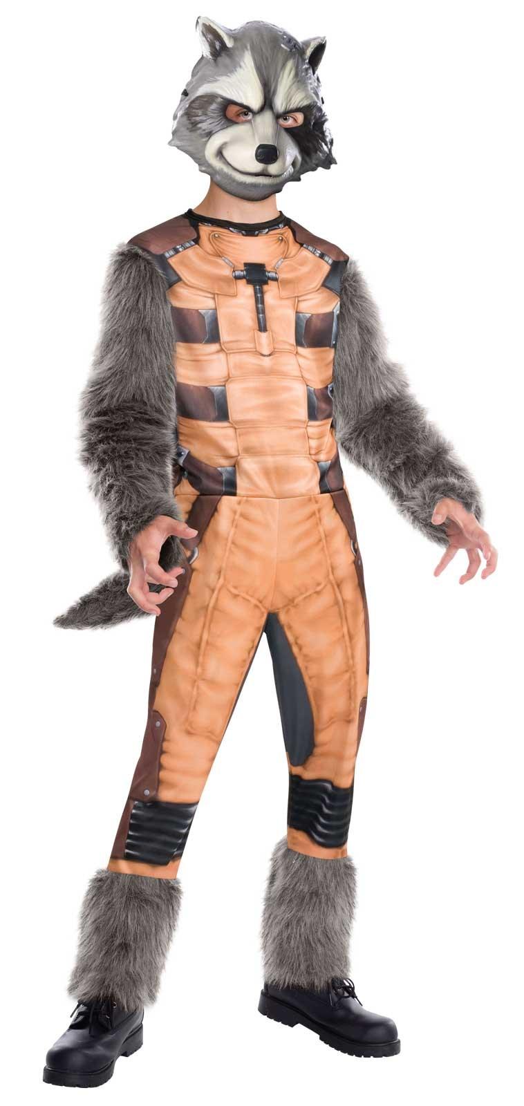 guardians of the galaxy deluxe rocket raccoon kids costume