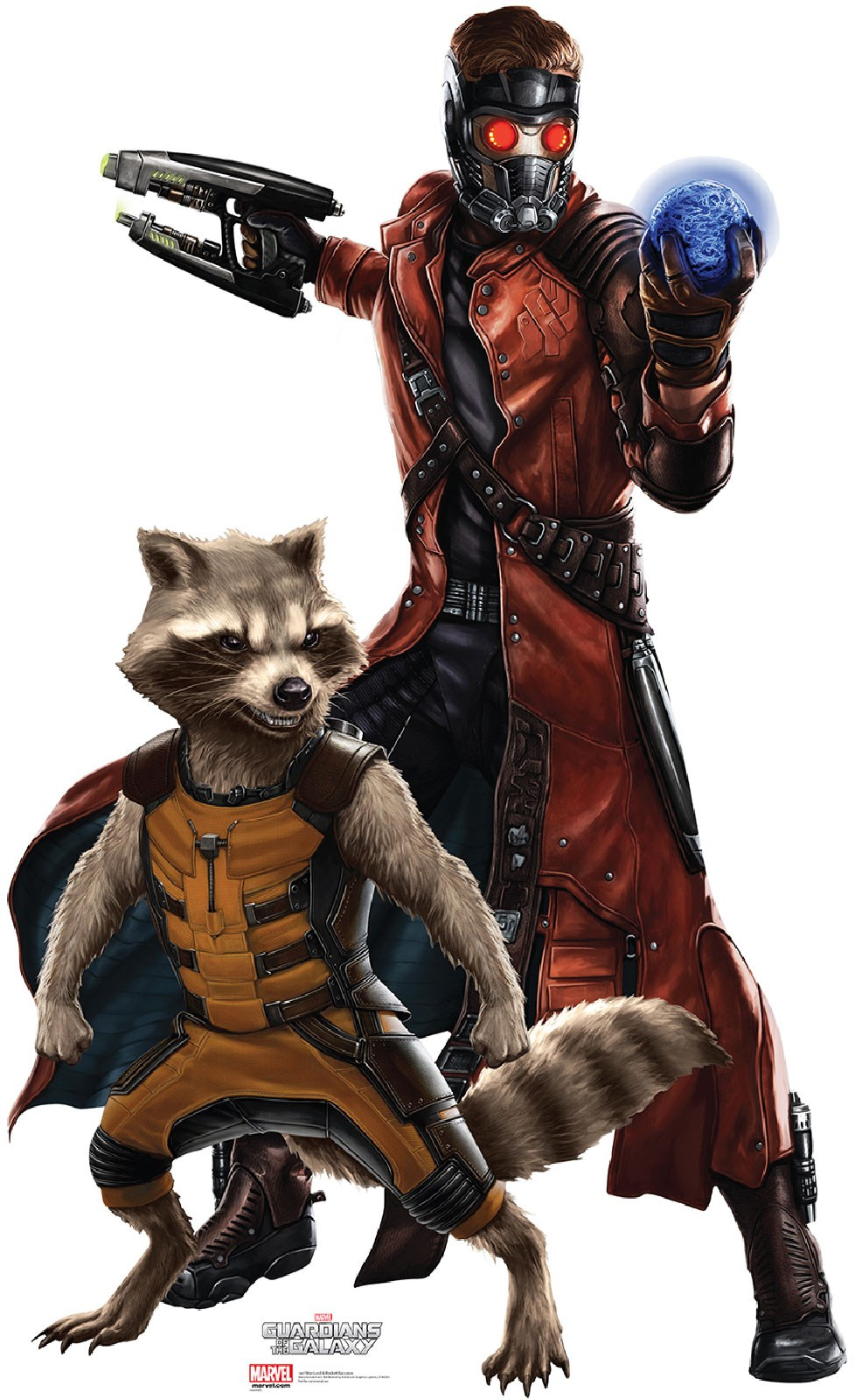Guardians of the Galaxy - Starlord & Rocket Cardboard Stand Up 6.25
