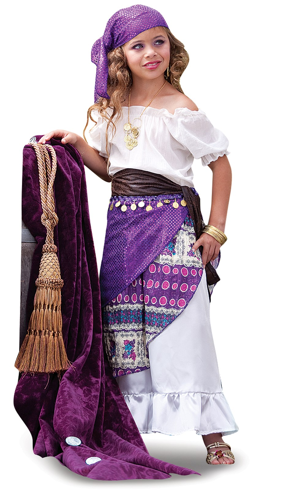 Gypsy child costume for Homemade halloween costumes for 10 year olds