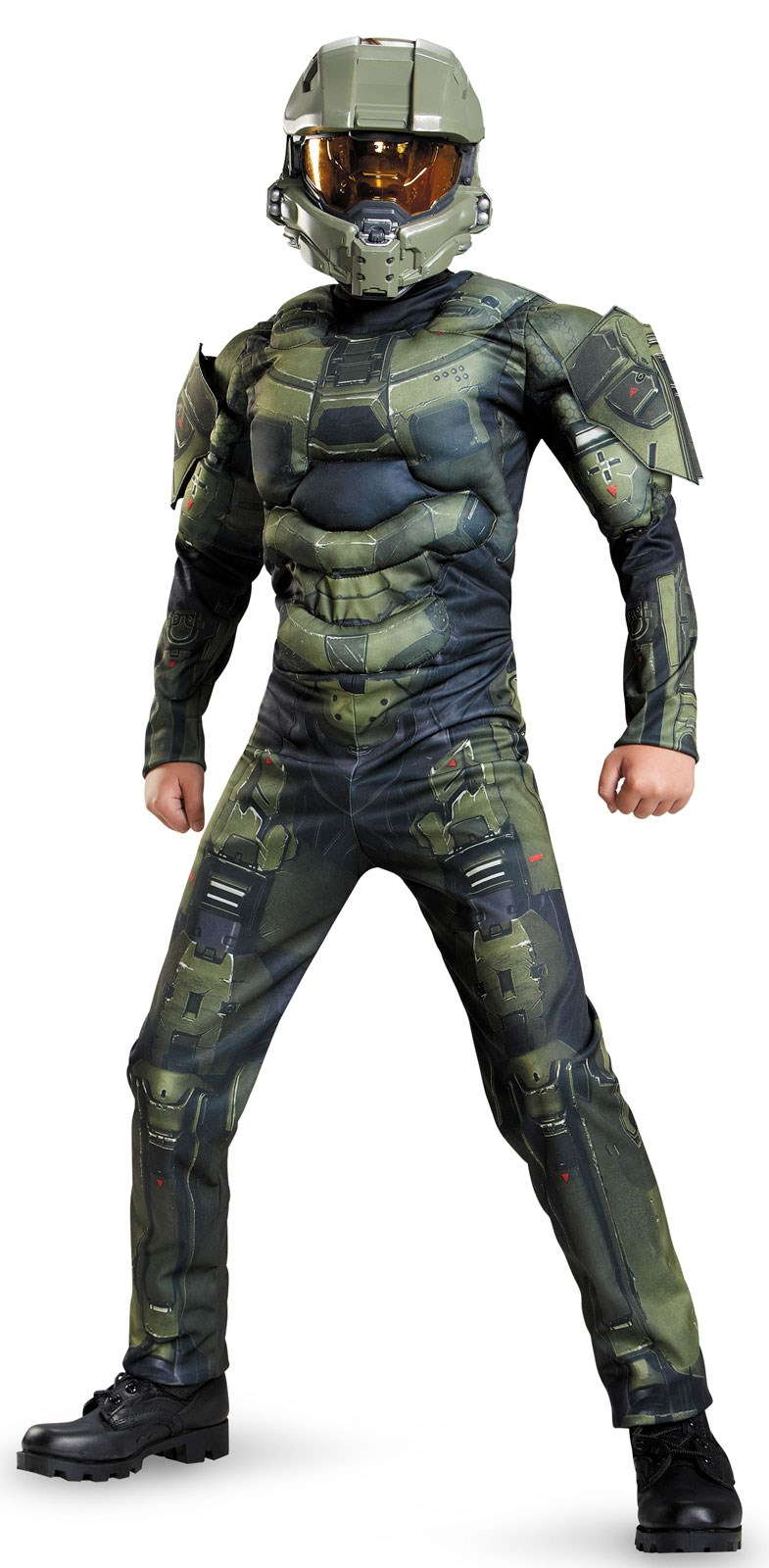 Halo: Master Chief Muscle Costume For Kids | BuyCostumes.com