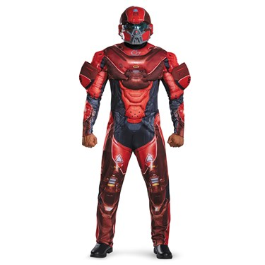 Halo Red Spartan Muscle Teen Costume