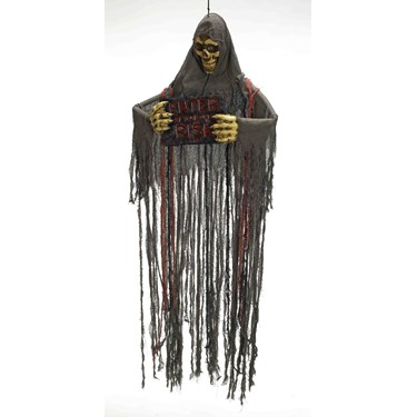 Hanging Skull Reaper With Plaque