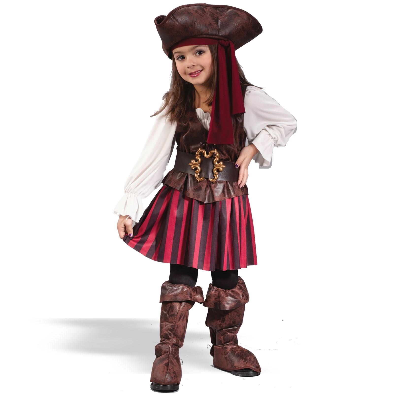 High Seas Buccaneer Girl Toddler Costume | BuyCostumes.com