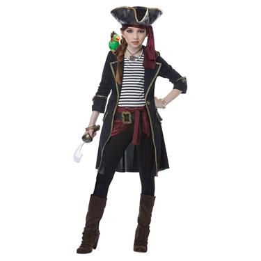 High Seas Captain Girl Child Costume