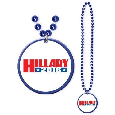 Hillary Clinton Beads with Medallion