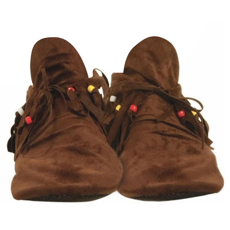 Adult Hippie (Women's) Adult Moccasins- Brown: One Size Fits Most Women