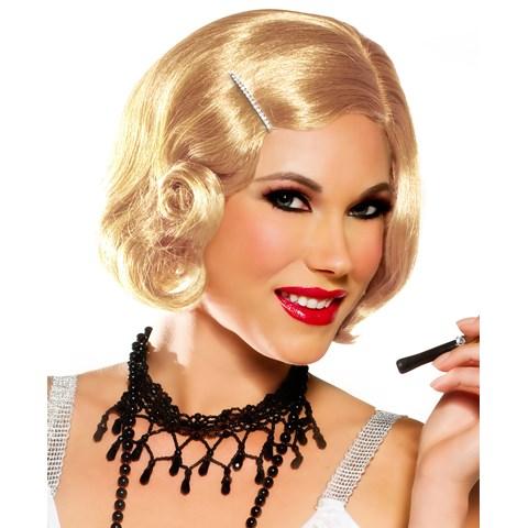 Honey Blonde Pin Curl Wig