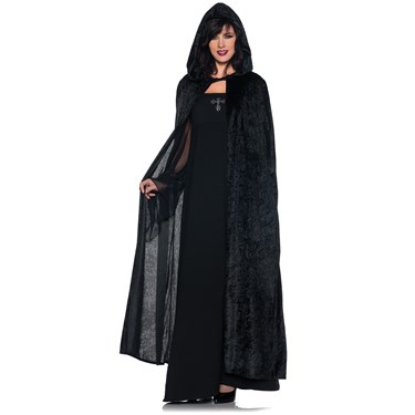 Hooded Unisex Black Adult Cloak