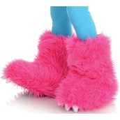 Hot Pink Monster Boots For Girls