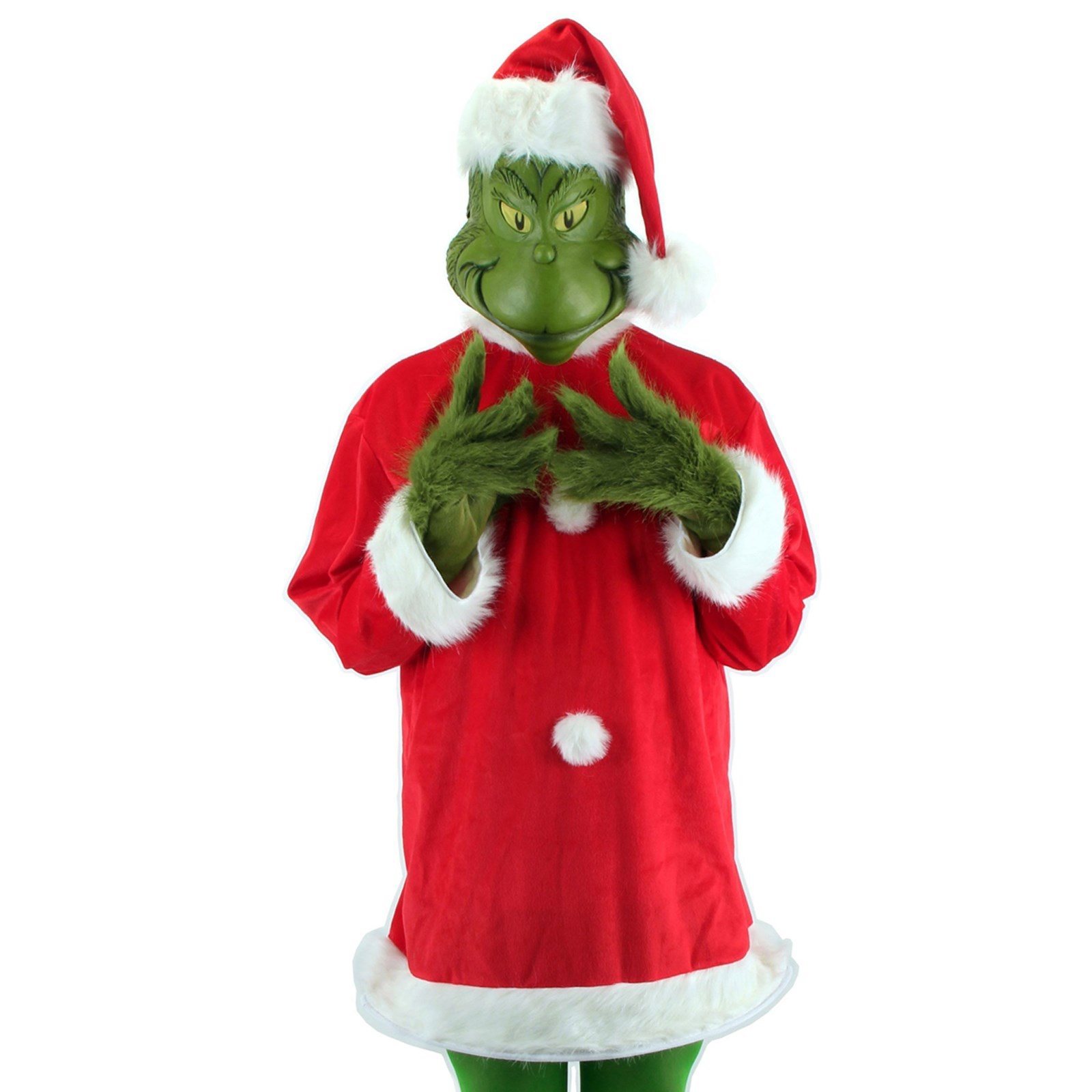 How to make your own grinch costume - How The Grinch Stole Christmas The Grinch Deluxe Adult Costume