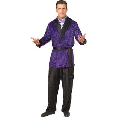 Hugh Heffner Purple Smoking Jacket