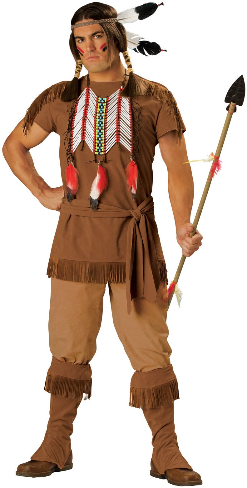 indian warrior adult costume. Black Bedroom Furniture Sets. Home Design Ideas