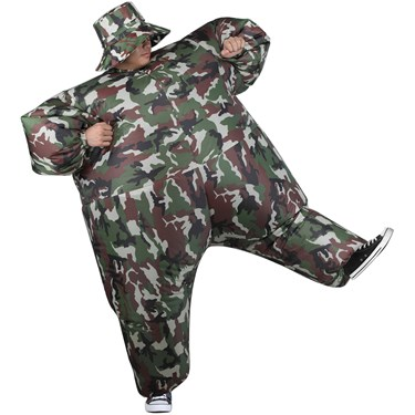 Inflatable Camouflage Suit Adult Costume