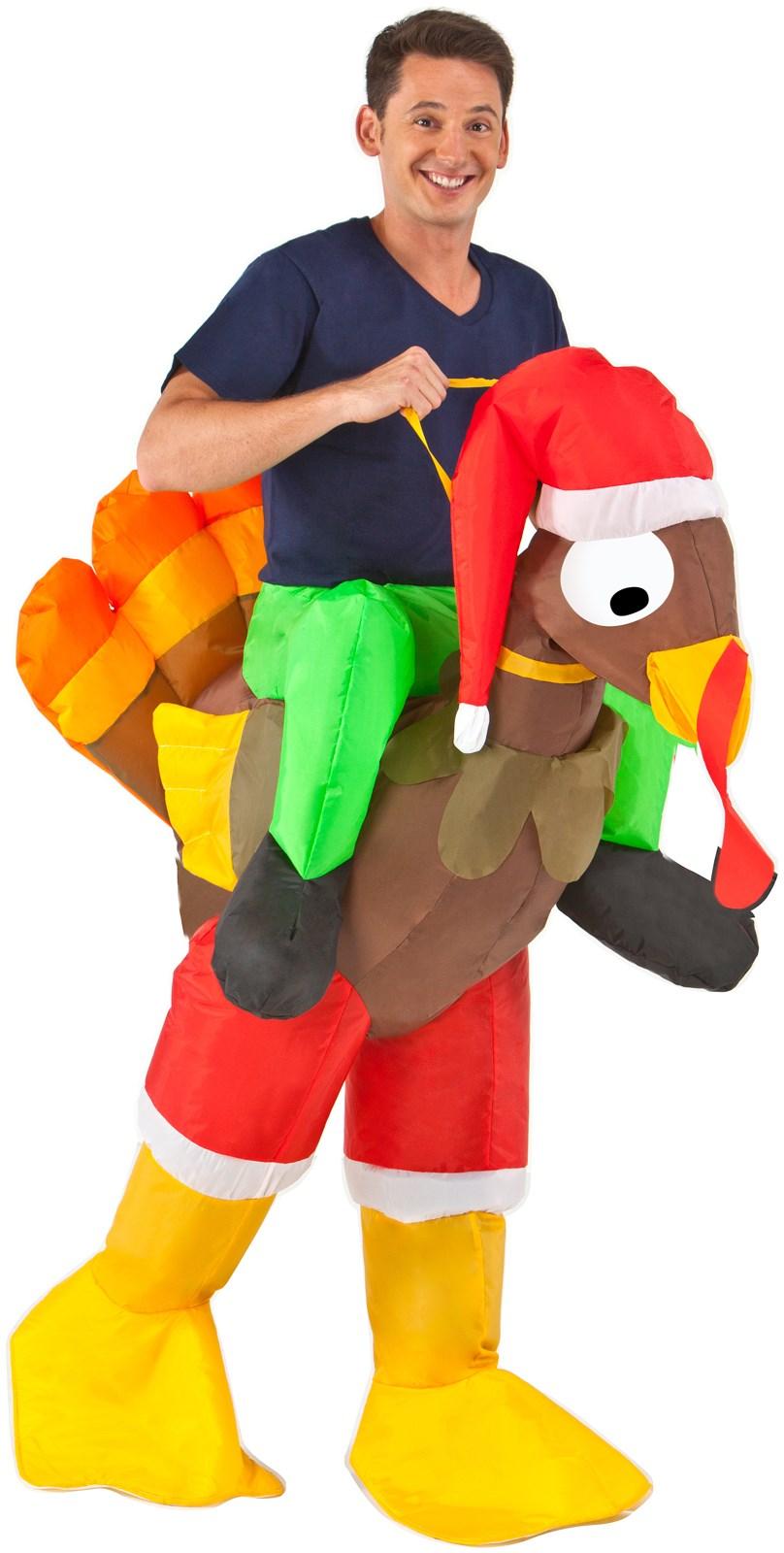 Inflatable Rider - Adult Turkey Costume | BuyCostumes.com