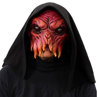 Ink Blot Half Mask w/ Hood