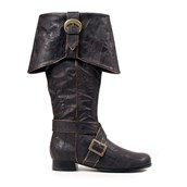 Jack Pirate Adult Black Boots