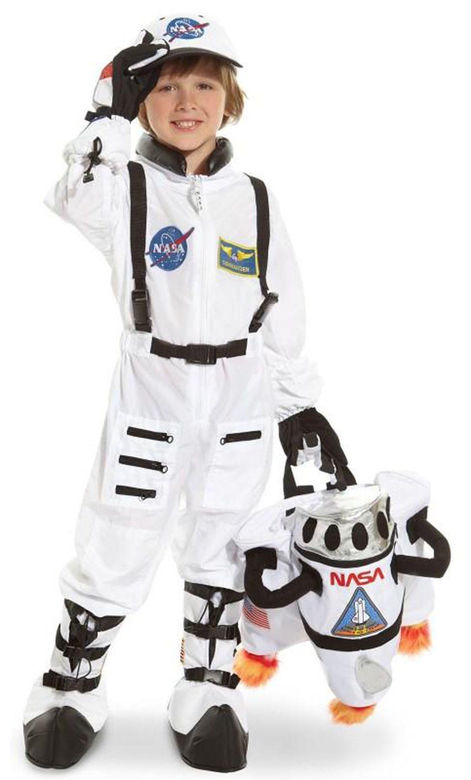 Jr Astronaut White Suit Child Costume BuyCostumescom - Astronaut decorations
