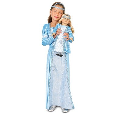 "Juliette Child Costume M (8-10) with Matching 18"" Doll Costume"