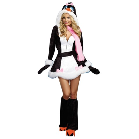 Just Chillin' Penguin Costume For Adults