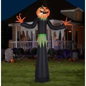 Giant Pumpkin Man Airblown with Kaleidoscope Lights
