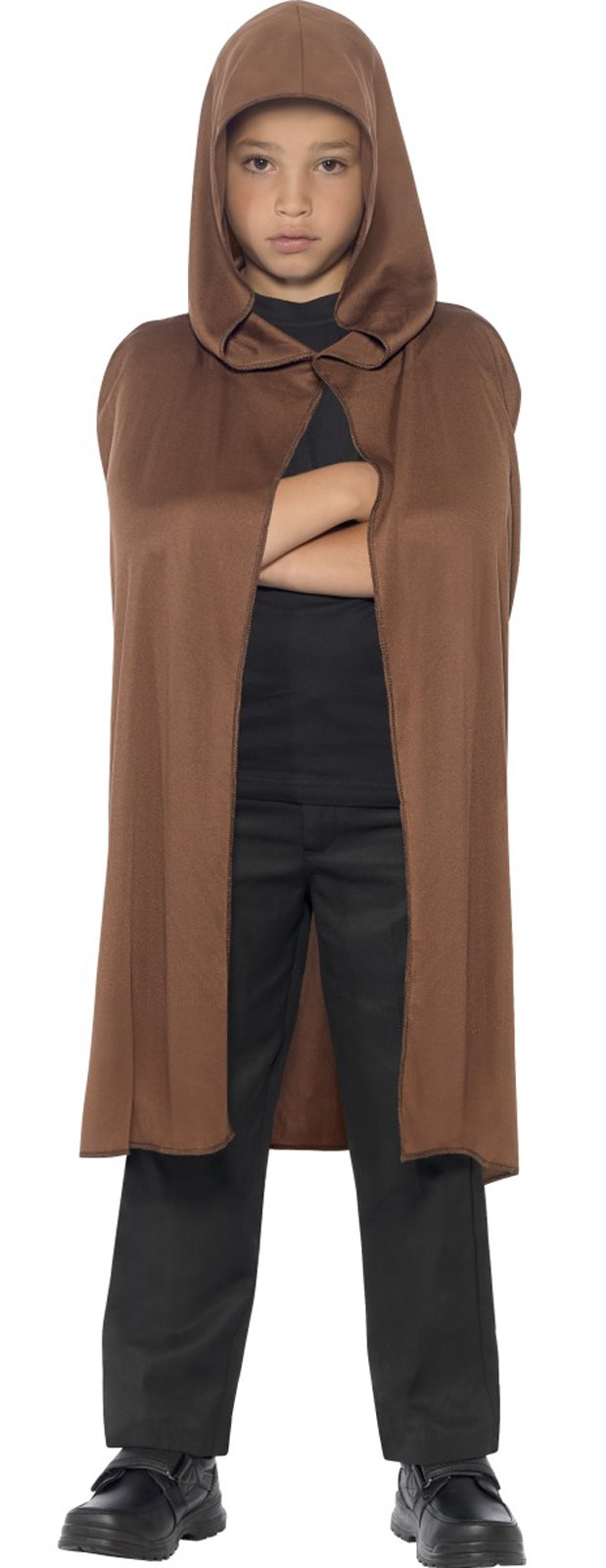 Kids Brown Hooded Cape