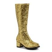 Kids Gold Glitter Gogo Boots