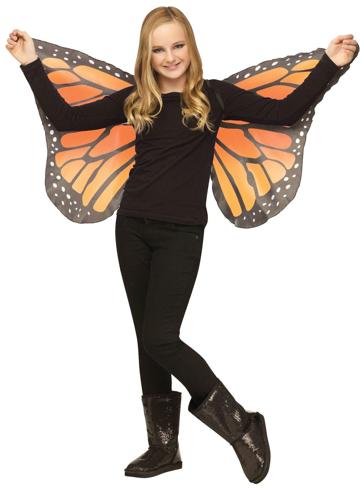 Kids Orange Butterfly Wings