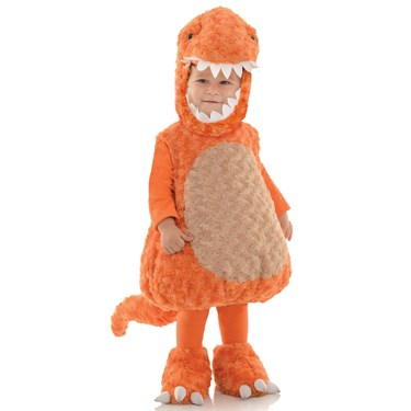 Kids Orange T-Rex Costume