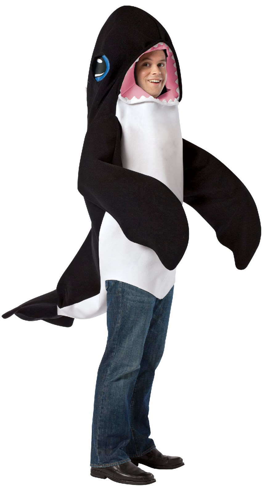 From the window to the wall whale - Killer Whale Adult Costume