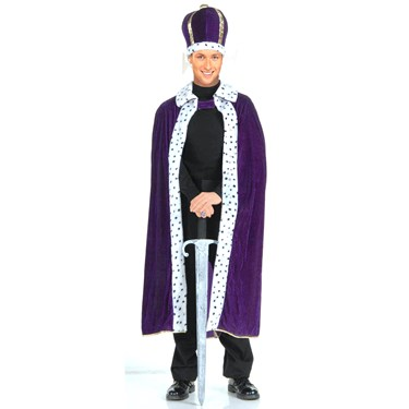 King Robe & Crown Adult Costume Kit