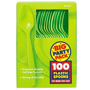 Kiwi Big Party Pack - Spoons (100 count)
