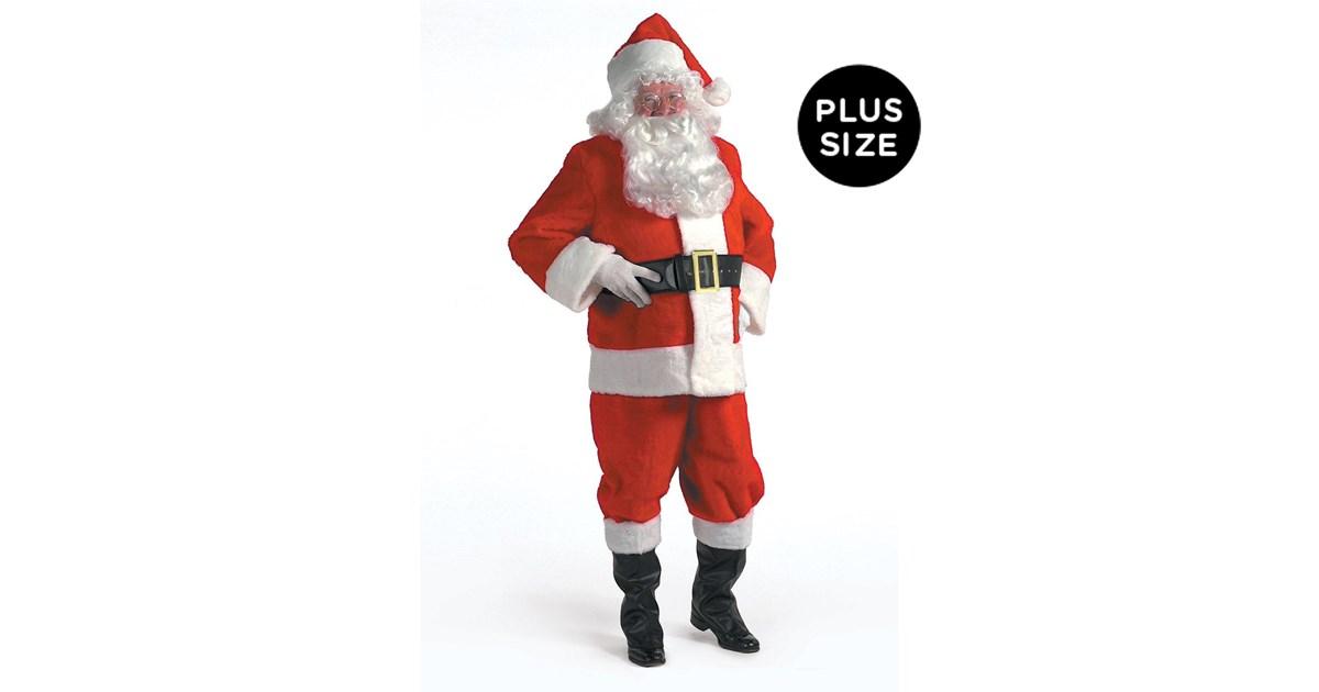 Kris Kringle Suit Adult Plus Size 3XL | BuyCostumes.com