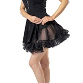 Lace Petticoat (Black) Adult