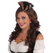 Lady Buccaneer Mini Hat with skull - Adult