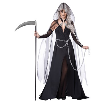 Lady Grim Reaper Scary Costume