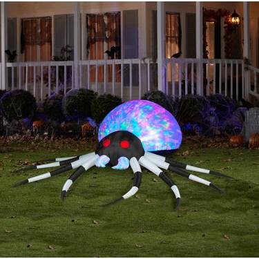 Large Black/White Airblown Kaleidoscope Spider