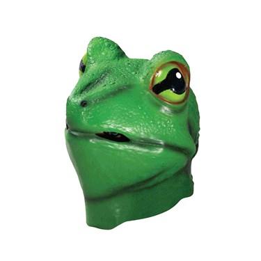 Latex Animal Deluxe Adult Mask- Frog