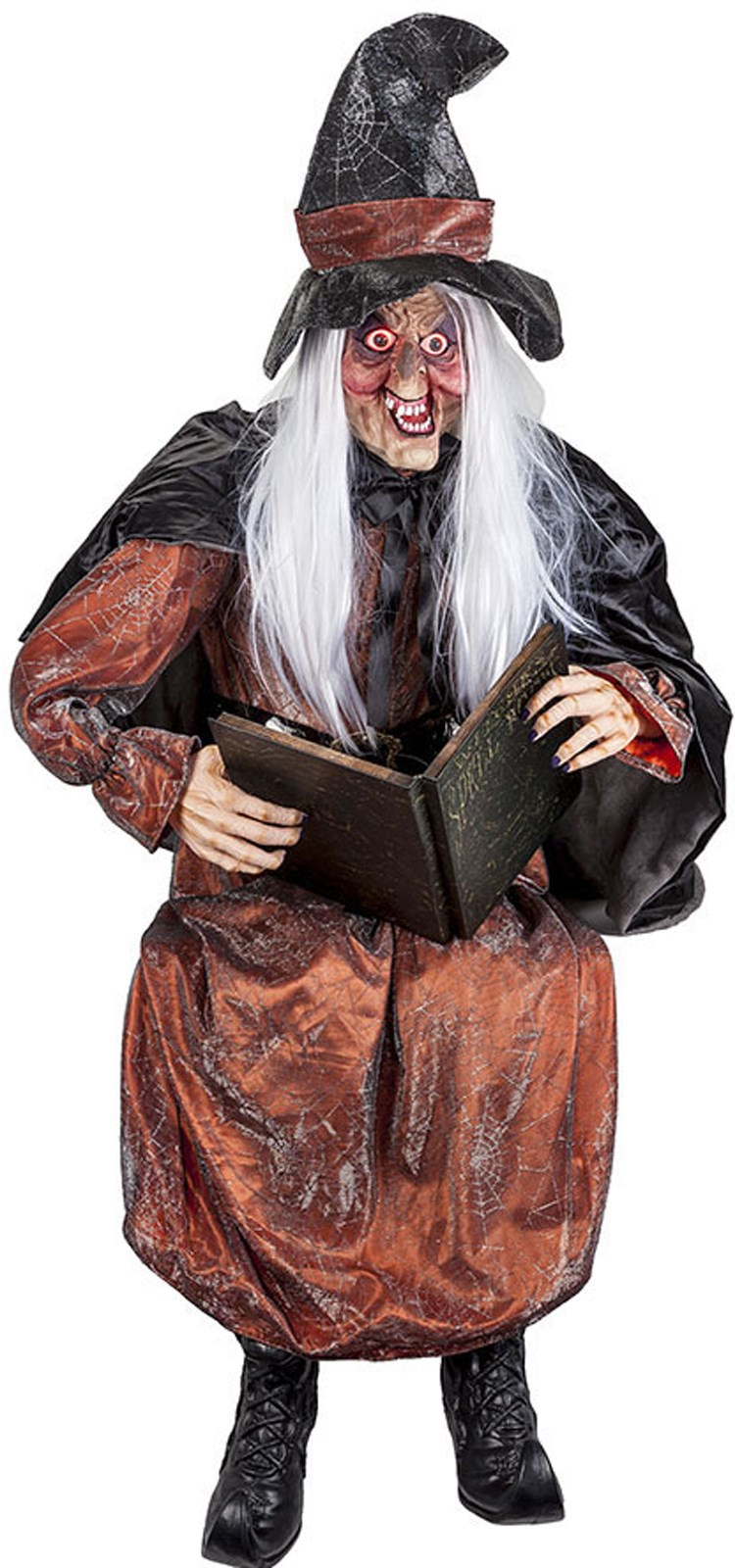 Life Size Talking Storytelling Witch With Light Up Eyes