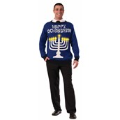 Light Up Chanukah Adult Sweater