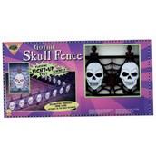 Light Up Gothic Skull Fence (2 piece)