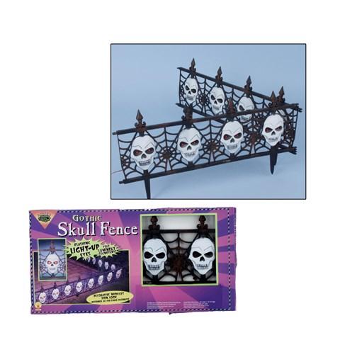 Light Up Gothic Skull Fence