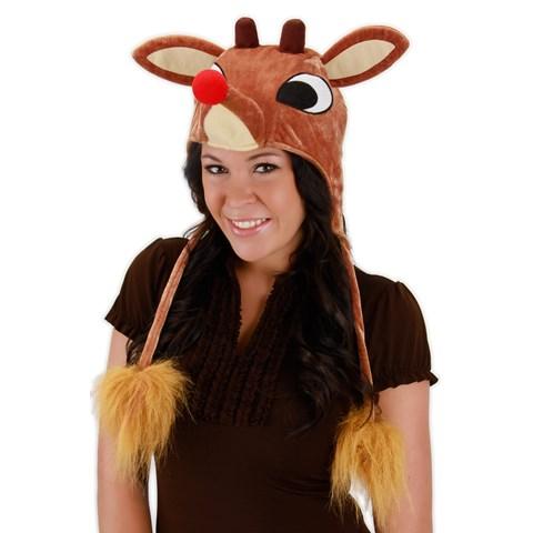 Light Up Rudolph Hat