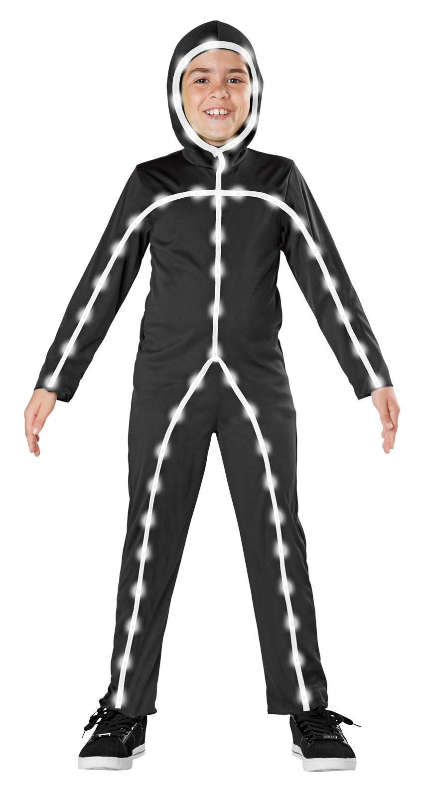 Light Up Stick Man Costume For Kids