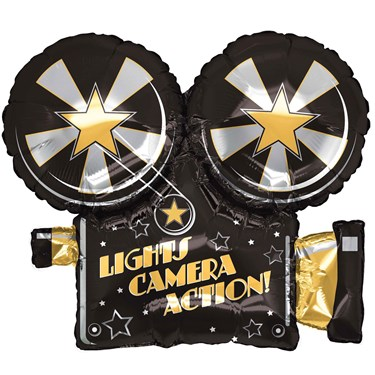 "Lights, Camera, Action 32"" Foil Balloon"