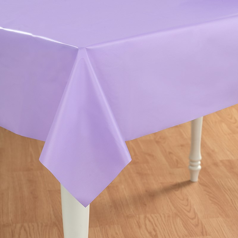 Luscious Lavender  Plastic Tablecover