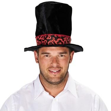 Mad Hatter Black Adult Top Hat