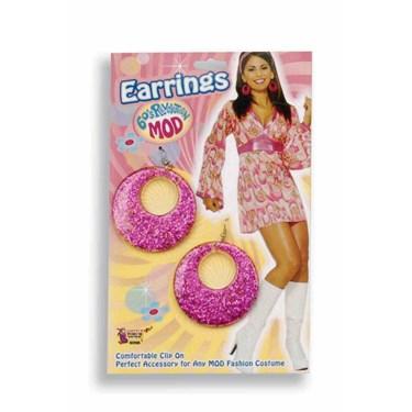 Magenta Glitter Earrings