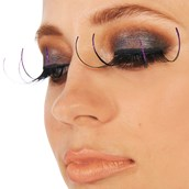 Magenta Tipped Eyelashes