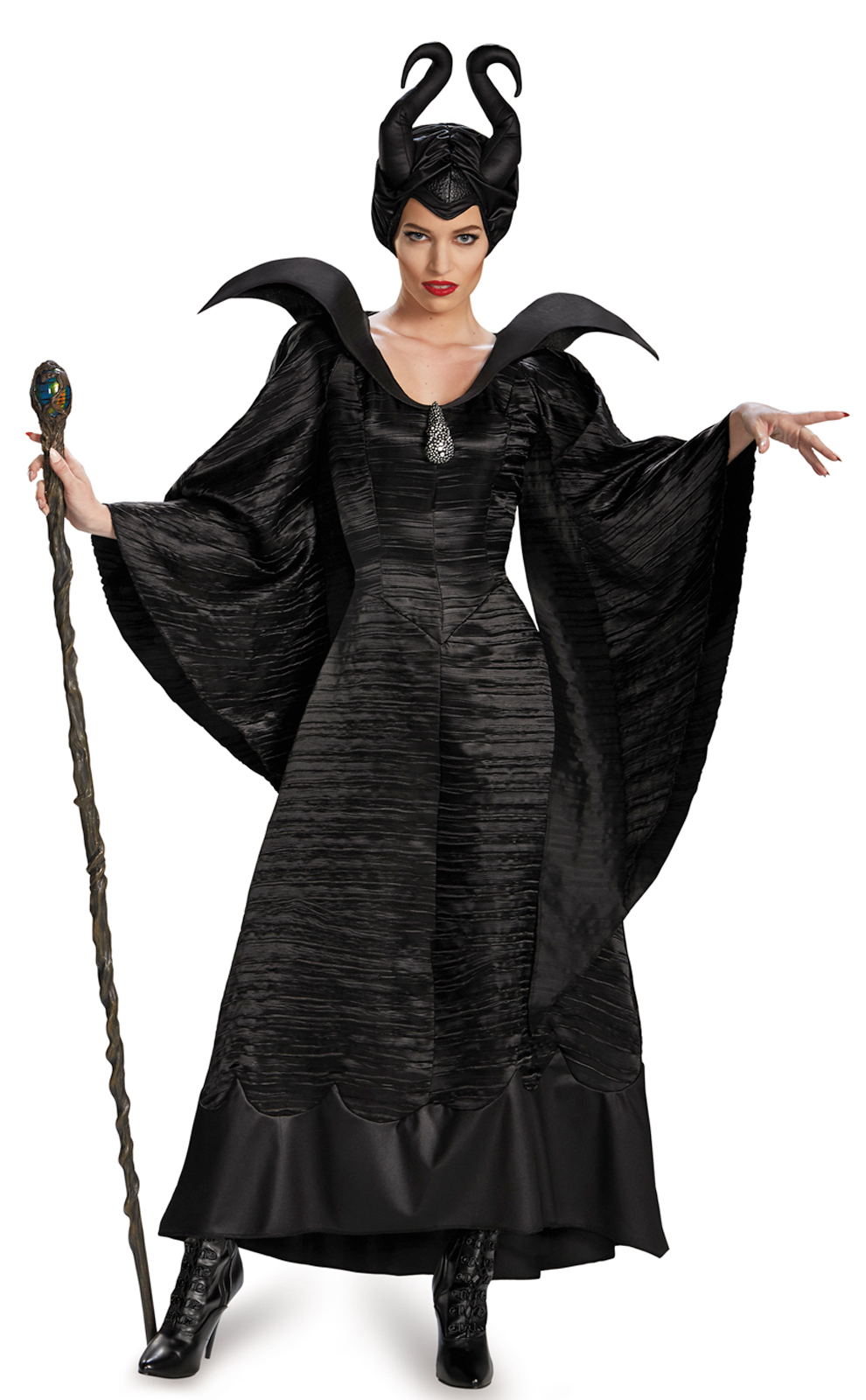 Black dress costume ideas - Maleficent Deluxe Christening Black Gown Adult Costume Buycostumes Com